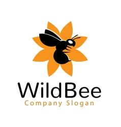 Wild Bee Logo vector image