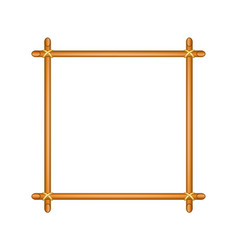 Wooden frame in brown design vector