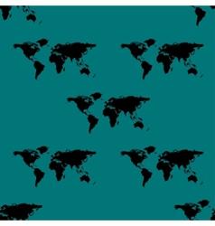 World map web icon flat design Seamless gray vector