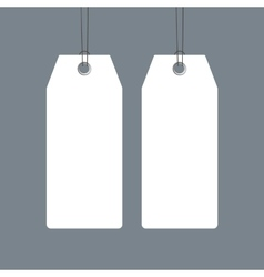 Blank price tags set design over grey background vector