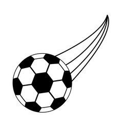 Football or soccer ball sport or fitness related vector