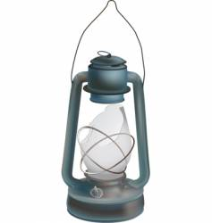 old oil lamp vector image vector image