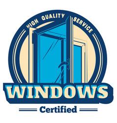 Plastic window logo vector