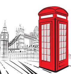 Sketch london city vector