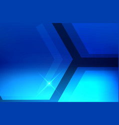 abstract hexagon blue background vector image vector image