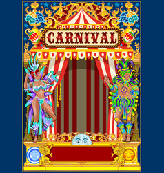 carnival gold and red poster vector image