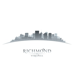 Richmond Virginia city skyline silhouette vector image vector image