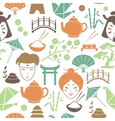 Seamless japanese pattern background vector image