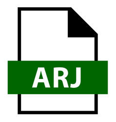 file name extension arj type vector image vector image