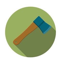 Flat design modern of axe icon camping and hiking vector image