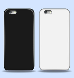 set of covers for smartphone with shadows and vector image
