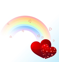 Valentines day rainbow vector image vector image