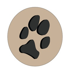 3D dogs paw vector image vector image