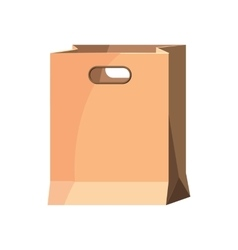 Brown paper bag icon cartoon style vector image