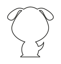 cute animal silhouette isolated icon vector image