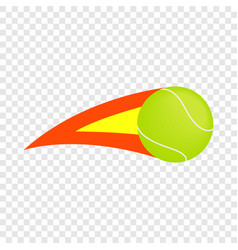 flaming tennis ball isometric icon vector image