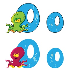 letter O octopus vector image vector image