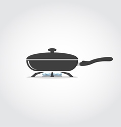 Pan on fire vector image