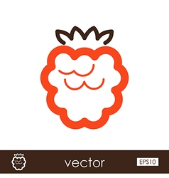 Raspberry outline icon Fruit vector image vector image