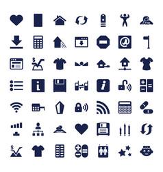 49 website icons vector