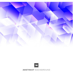 abstract blue and purple geometric hexagon mosaic vector image