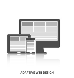 Adaptive Web Design Icon vector image