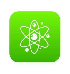 atom icon simple black style vector image