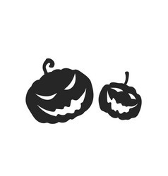 black silhouette pumpkins halloween party vector image
