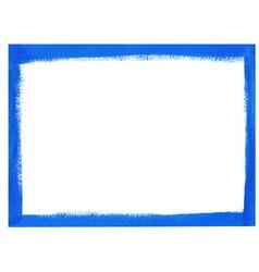 Blue grunge frame vector image