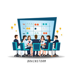 brainstorming teamwork with business people vector image