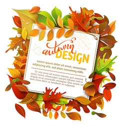 Bright Fall Background vector image
