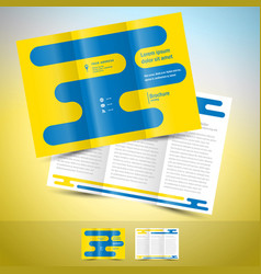 brochure design template leaflet abstract vector image