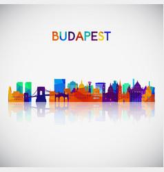 Budapest skyline silhouette vector