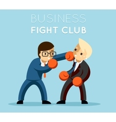 Business fight club vector