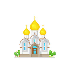 christian orthodox church with domes isolated icon vector image