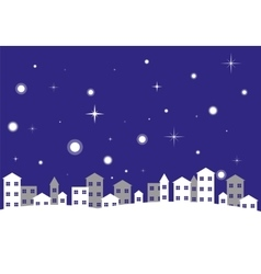 City Night Winter Landscape vector