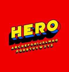Comic book superhero style font design vector