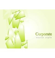Corporate glass splinters design vector