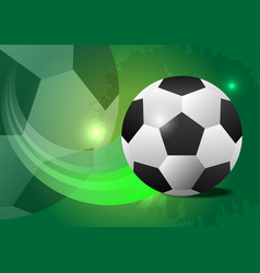 creative soccer design ball concept vector image