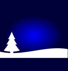 dark blue and white christmas trees landscape vector image