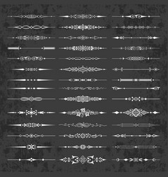 decorative calligraphic dividers on chalkboard vector image