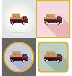 delivery flat icons 05 vector image