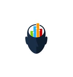 diagram human head logo icon design vector image