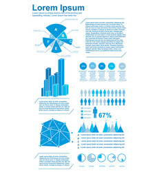 diagrams infographics set vector image vector image