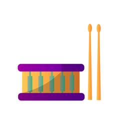 drum percussion musical instrument vector image