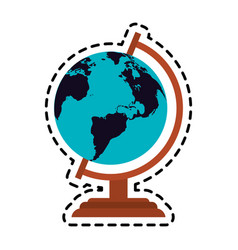Earth globe icon image vector