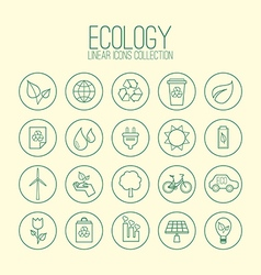Eco Linear Icons Collection vector