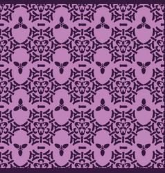 elegant and trendy purple ornamental folk damask vector image