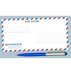 Envelope and pen vector