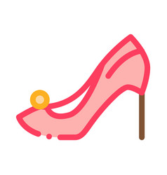 female shoe icon outline vector image